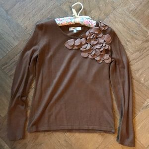 One 7 Six Floral Applique Sweater